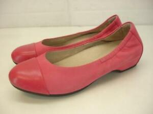 Women's 7.5 8 38 Dansko Lisanne Raspberry Pink Milled Nubuck Ballet Flats Shoes