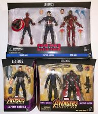 Marvel Legends CIVIL WAR Spidey, Cap & Iron Man 3-Pk, W Soldier & Falcon & Cap
