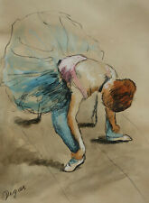 Original, Unique, Dancer pastel drawing, signed, Edgar Degas, w COA & DOCS.