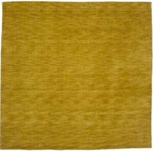 Solid Gold Contemporary 8X8 Oriental Modern Square Rug Wool Hand Loomed Carpet