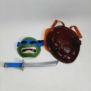 Teenage Mutant Ninja Turtle LEONARDO Kids Costume Blue mask weapon shell