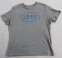 Under Armour Women's Heat Gear S/S Crew Neck Gray Athletic T Shirt - Size XL