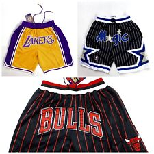 Orlando Magic Chicago Bulls Los Angeles Lakers Vintage Mens Shorts S-2XL USA