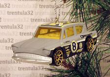 FORD ANGLIA RACE CAR GREY YELLOW RACING CHRISTMAS TREE ORNAMENT XMAS
