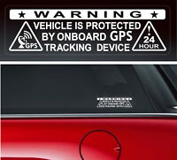 4 X Warning Sticker Security Vehicle GPS Tracking Car Window  Safety Protection