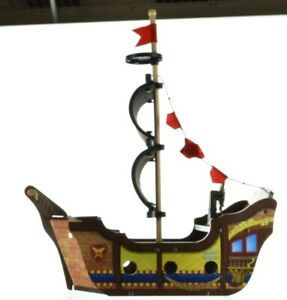 KidKraft lives learn & play Adventure Wooden Pirate Ship