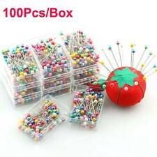 100pcs Sewing Pins Ball Glass Head Pins Straight Quilting Pins DIY Sewing Crafts