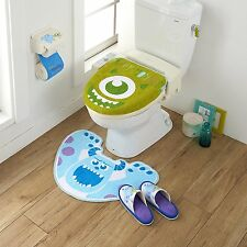 Disney Monsters Inc. Toilet Seat Paper Cover Set with Matt Slipper Kawaii