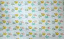 Vtg By YD Dept Store Gift Wrapping Paper Yellow Blue Pink Tea Pot Flower Shower