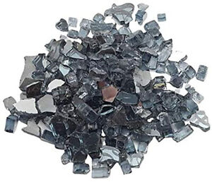 Grey Reflective Fire Glass 1kg (2.2lb) - Pits Gas Fires Burners Firebrand Direct
