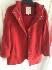 White Stuff Ladies Coat Size 14 Red With Hood