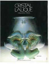 PUBLICITE  1983   CRISTAL LALIQUE  vase  ANTINEA