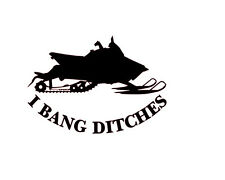 2 QTY  I BANG DITCHES POLARIS RUSH PRO R DECAL ARCTIC CAT YAMAHA HONDA KAWASAKI