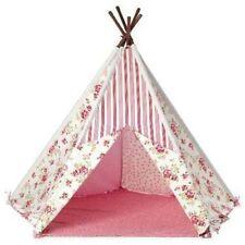 Kids Play tent Tipi indio Floral Lona Niñas Para Exterior E Interior grandes Wigwam Nuevo