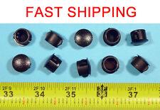 "10 Black Nylon HOLE PLUGS 1/2""  Locking Rigid Plug push-in round 10 pcs. flush"