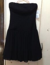 Zara Black Pintuck Tube Dress size Small