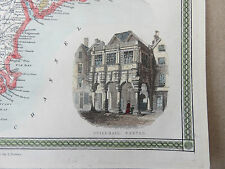 Devonshire Map by Thomas Moules (Engraved by I. Dower) - c.1840's