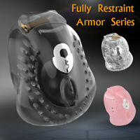 New Arrival Male Fully Restraint Poly-carbonate Bowl Mens Chastity Device ARMOR