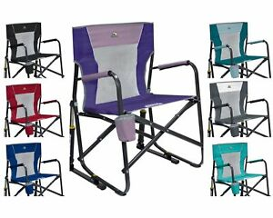 GCI Outdoor Freestyle Rocker Mesh Chair Folding Portable Camping Cup Holder(NEW)