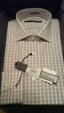 UNGARO camicia check bianco tg. 41 collo 16