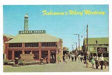 FISHERMAN'S WHARF Harbor House Gifts Street Scene Monterey CALIFORNIA Postcard