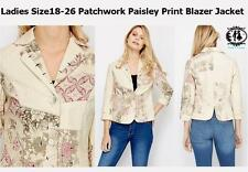 Cotton Blazer Floral Plus Size Coats & Jackets for Women
