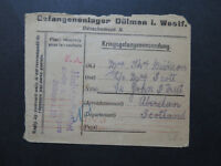 Germany 1915 POW Cover to Scotland / London Paid Machine Cancel - Z9645
