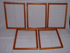 """Set of 5 Vintage Mid 20th Century Matching 9"""" x 7"""" Pine Picture Frames"""