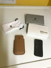 PORSCHE DESIGN TAN COGNAC CRESTED CASE FOR IPHONE 5, 5S, 6 and 7SE NEW