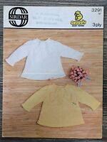 "Sirdar Knitting Pattern: Baby Dress & Matinee Jacket, 3ply, 18"", 3291"