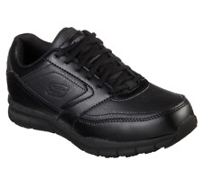 SKECHERS 77235W/BLK NAMPA - WYOLA Wmn's (W) Black Leather Work Shoes