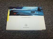 2004 Mercedes Benz G500 G55 AMG G-Class Owner Owner's Operator Manual 5.0L 5.4L