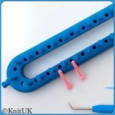 Knituk lungo blu Knitting Loom 62 esegue il pegging + 62 extra-esegue il pegging.