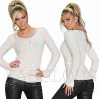 Women's Cardigan Jumper Jacket Size 6 8 10 12 14  XS S M L XL Christmas Gift