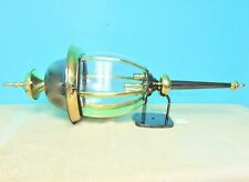 Exterior Light Fixture Wall Mount Solid Brass Black and Brass Finish Large