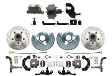 1962-1972 A Body Power Disc Brake Kit, Drilled & Slotted Rotors (5x4.5) Pattern