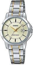 Casio Women's 2-tone Bracelet Watch, Champagne Dial, Date, LTP-V004SG-9A