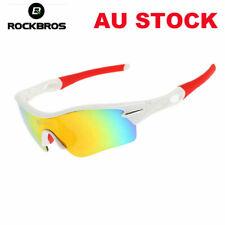 ROCKBROS Cycling Sunglasses Sports Glasses UV400 Polarized Bike Goggles White AU