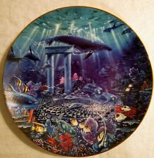 The Hamilton Collection Enchanted Seascapes Oasis of the Gods John Enright Plate
