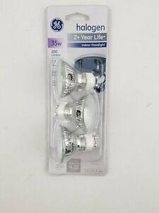 Ge 3 Pack Halogen 2+ Yr Life GU10 35W Indoor Floodlight 120V 61142