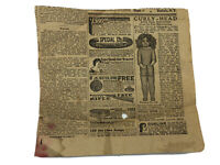 Early 1900s Advertisements Curly-Head Doll Hair Remover Wanted Ads Newpaper Clip