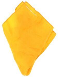 Tommy Hilfiger Mens Orange Solid 100% Silk Pocket Square 140099