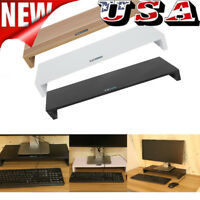 Wooden LED LCD Computer Monitor Shelf Stand Holder Display Bracket with Drawer