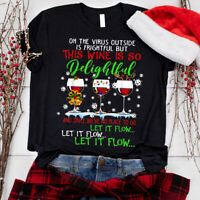 Oh the virus outside is frightful but is so delightful Gift Christmas T-Shirt