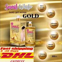 2x Snail White Gluta Collagen Gold Body Gel Serum Lotion Skin Brighten Whitening