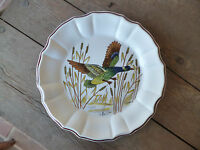 Este Ceramiche Italy Wildlife Hand Painted  Artist Signed Dinner Plate #G