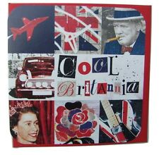 Cool Britannia tarjeta en blanco para cualquier ocasión por Hallmark (Churchill, Queen, Mini)
