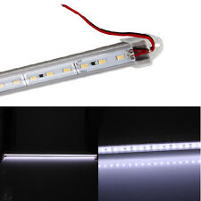 12V 72 LED Tube Rigid Bar SMD 5630 Strip Light Cool White with Transparent Cover