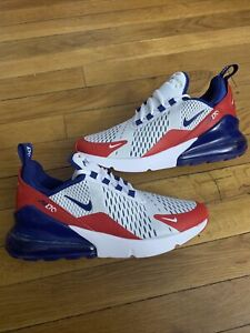 Nike Air Max 270 GS Shoes White/Red/Blue CW5855-100 Youth Size 6Y / Women's 7.5