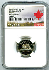 2019 CANADA 5 CENT EVERLASTING ICONS SET NICKEL NGC MS68 FIRST RELEASES RARE